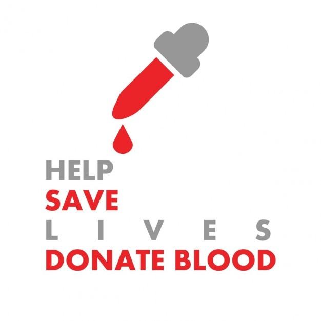 Doe o sangue salvar vidas poster Vetor grátis