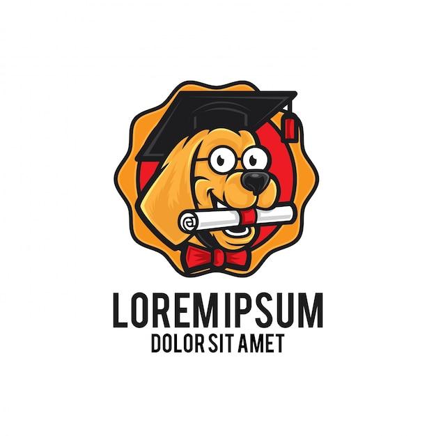 Dog scholar logo mascot baixar vetores premium dog scholar logo mascot vetor premium stopboris Choice Image