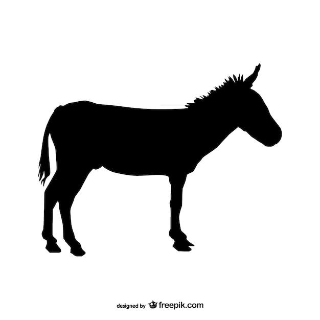 Donkey silhueta Vetor grátis