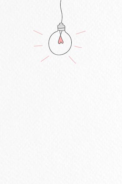 Doodle de lâmpada Vetor grátis