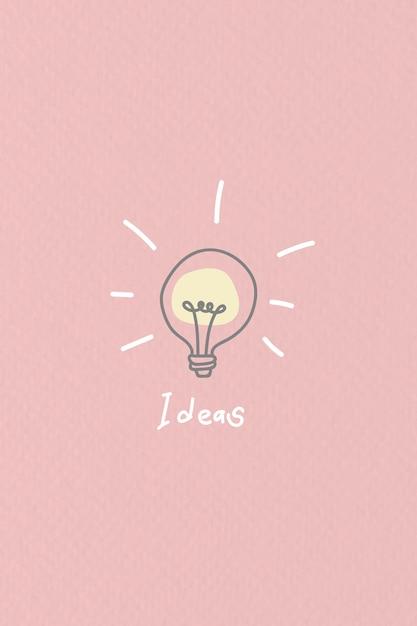 Doodle de novas idéias brilhantes Vetor grátis