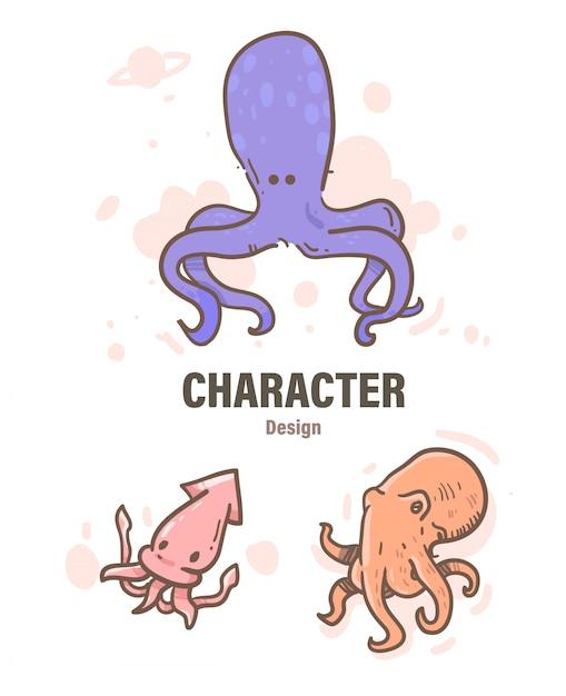 Doodle de polvo estilo dos desenhos animados. ilustração de polvo Vetor Premium