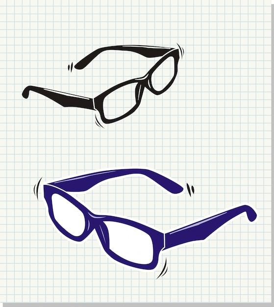 Doodle ilustração em vetor estilo óculos de sol   Baixar vetores Premium f5c4af2ca9