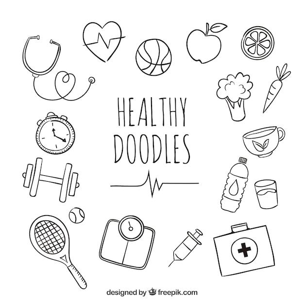 Doodles saud veis baixar vetores gr tis - Titulo manipulador alimentos ...