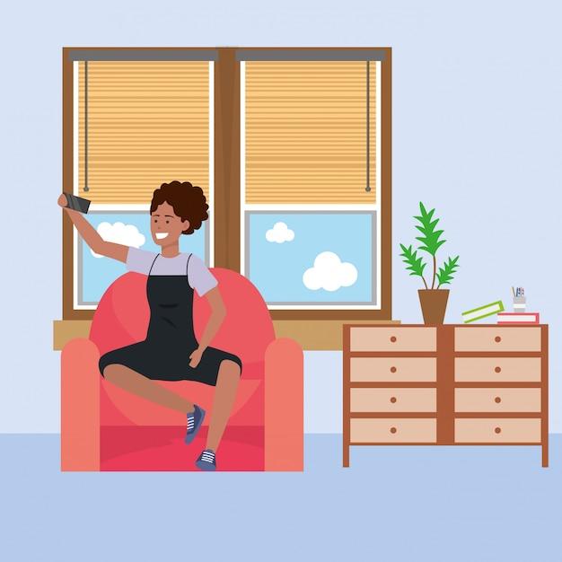 Dormitório estudantil millennial Vetor Premium