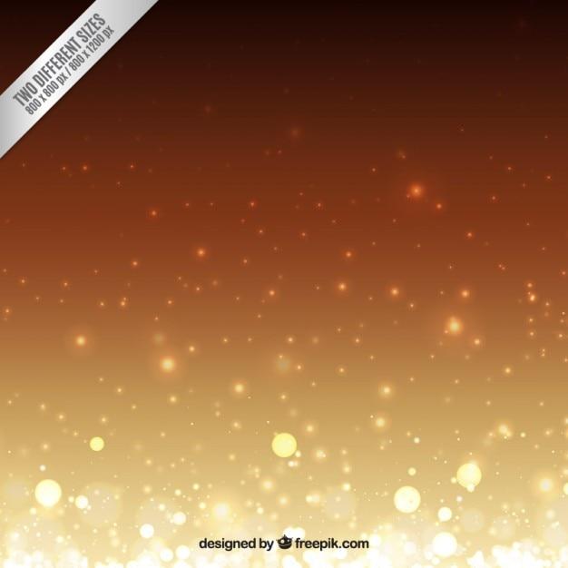 Dourado ao marrom bokeh de fundo Vetor grátis