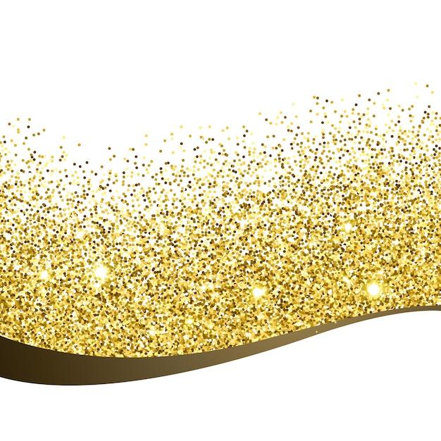 Dourado glitter fundo projeto vectir Vetor grátis