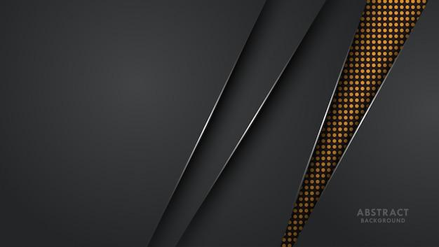 Drak fundo metálico com linha de prata Vetor Premium