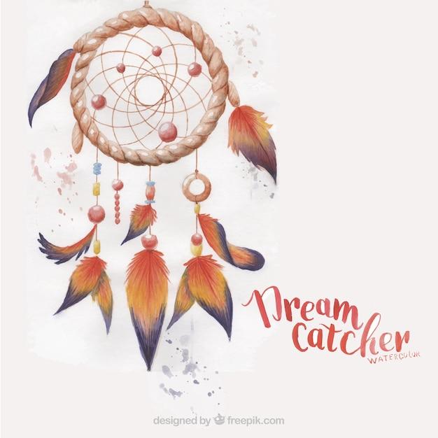 Dreamcatcher pintada Vetor grátis