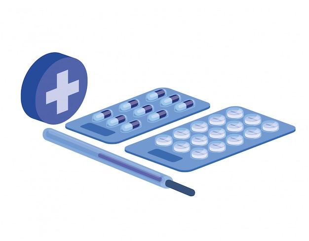 Drogas de medicina em branco Vetor Premium