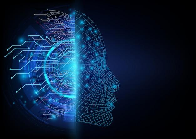 Duas dimensões da comunicação digital Vetor Premium
