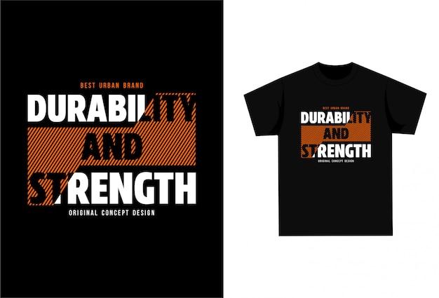 Durabilidade e resistência - camiseta gráfica para impressão Vetor Premium