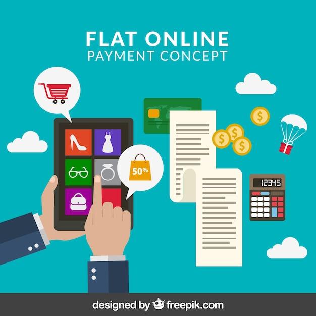E-commerce, conceito de pagamento on-line Vetor grátis