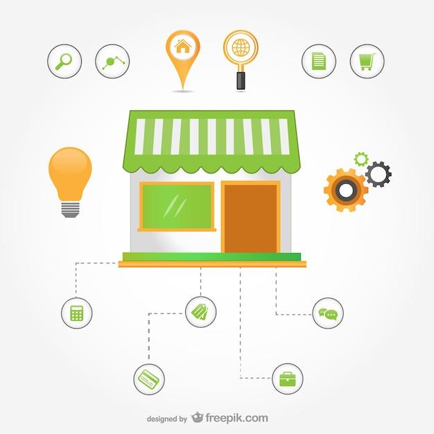 E-commerce infográfico Vetor grátis