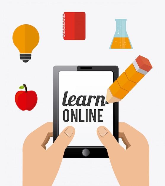 E-learning design. Vetor Premium