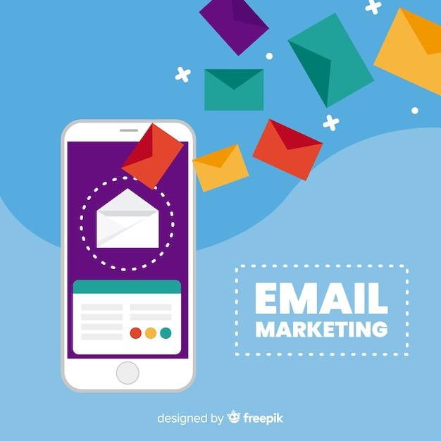 E-mail plano de marketing Vetor grátis