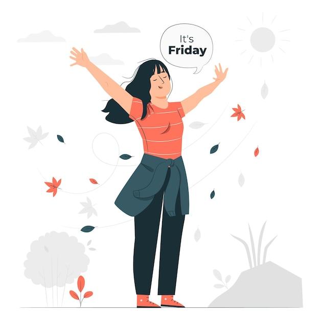 É sexta-feira ilustração do conceito Vetor grátis