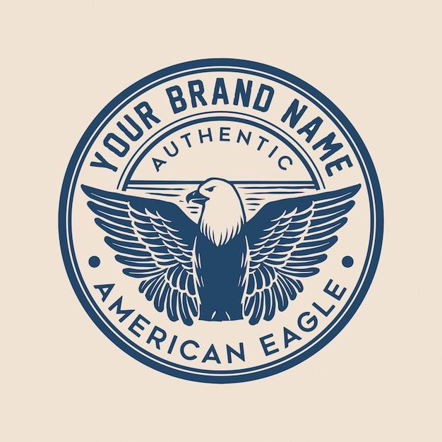 Eagle badge logo Vetor Premium