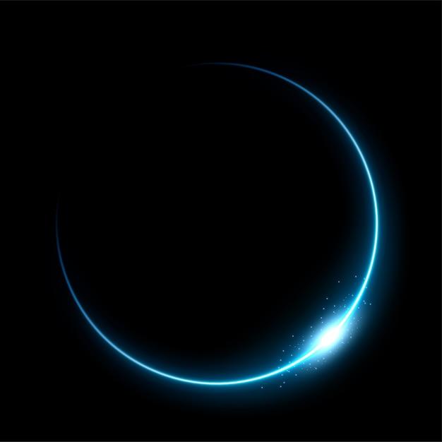 Eclipse azul Vetor Premium