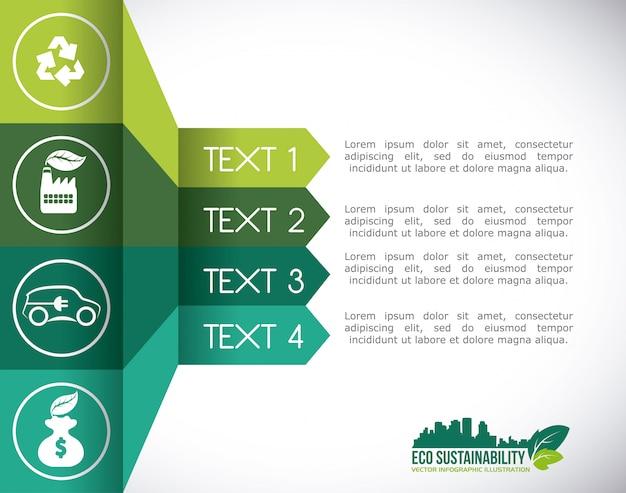 Eco sustentabilidade Vetor Premium