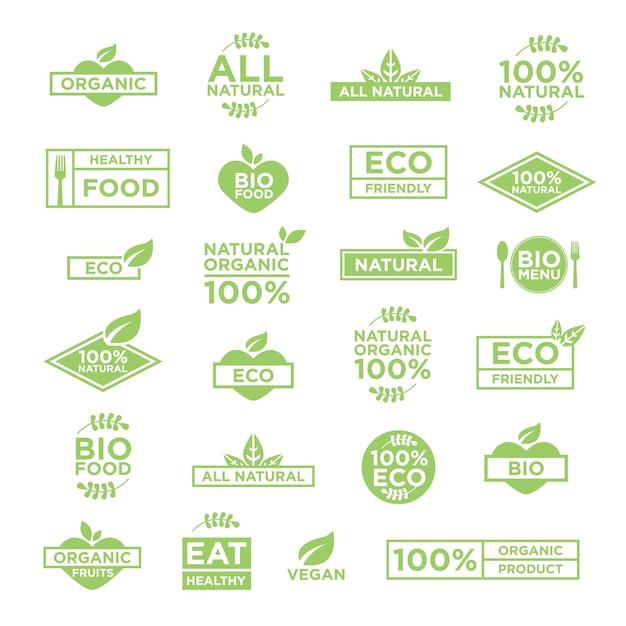 Eco template logos Vetor grátis