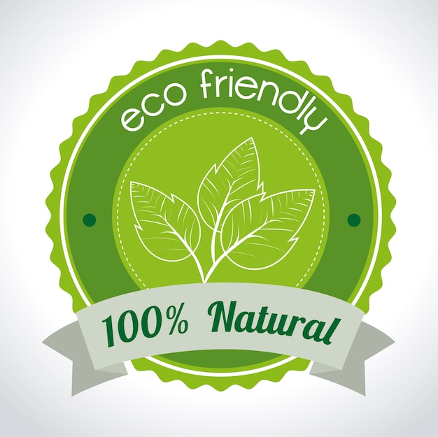 Ecologia ndesign Vetor Premium