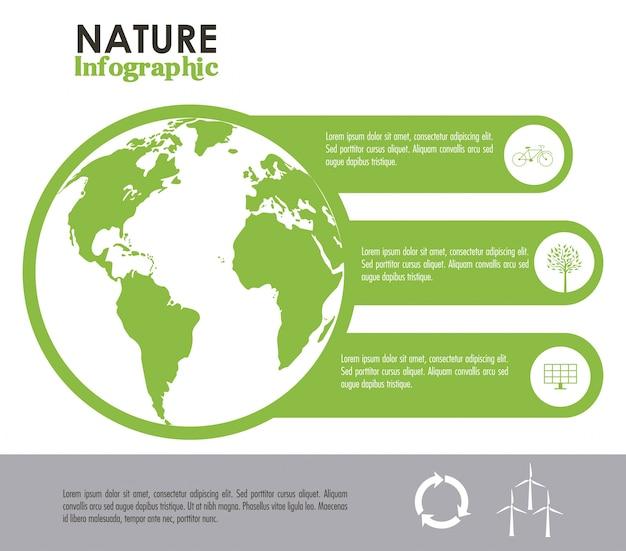 Ecologia projeto infográfico Vetor Premium