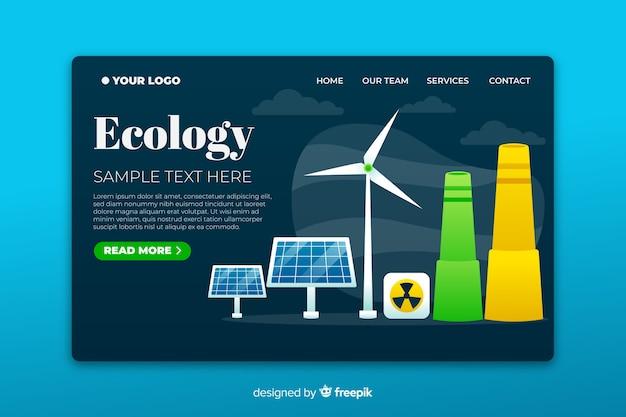 Economia de energia por diferentes métodos de página de destino Vetor grátis