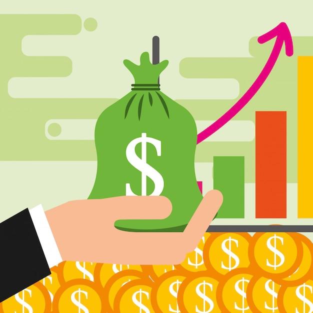 Economizando dinheiro Vetor Premium