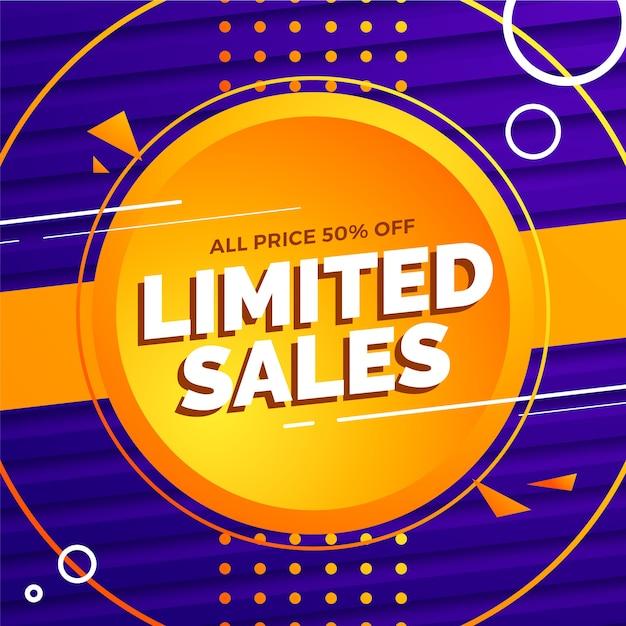 Edição limitada de vendas abstrato Vetor grátis