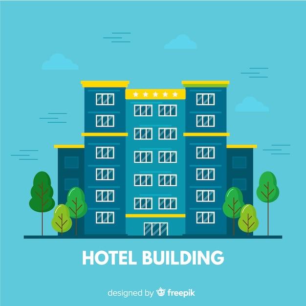 Edifício flat hotel Vetor grátis
