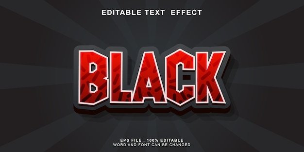 Editable_text_effect_balack_friday_3d Vetor Premium