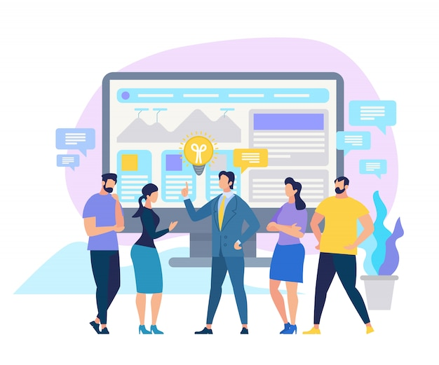 Educação corporativa business skills improvement Vetor Premium
