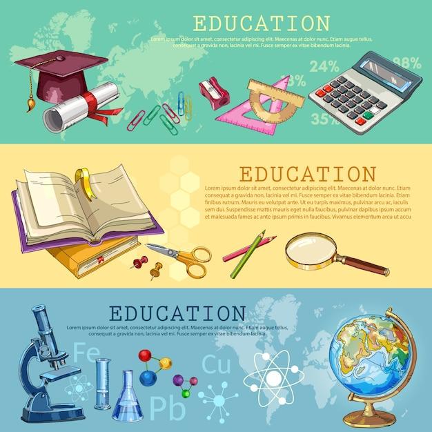 Educação. de volta à escola Vetor Premium