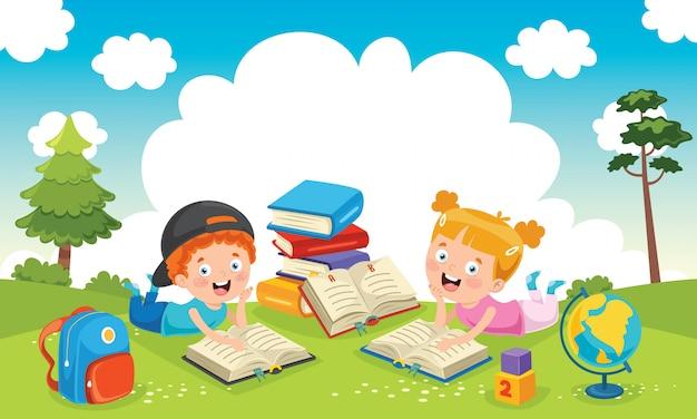 Educação infantil Vetor Premium