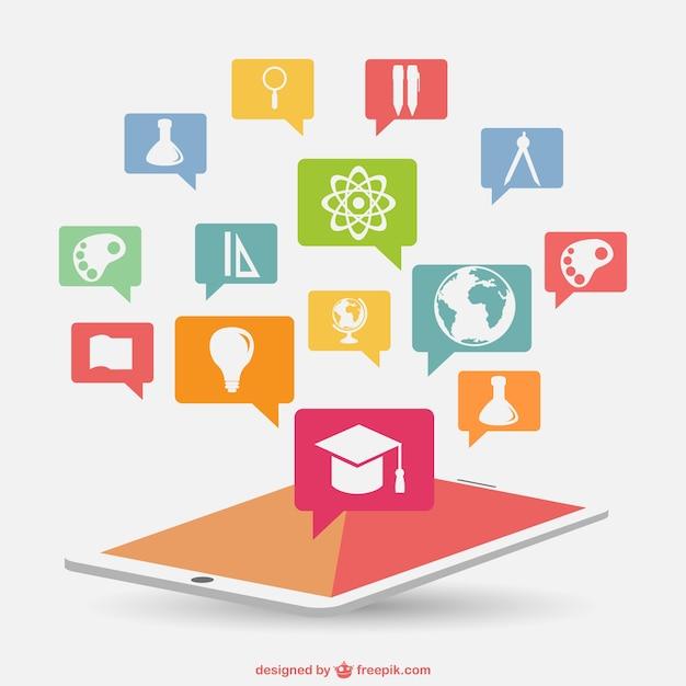 Educação infográfico nova tecnologia Vetor grátis