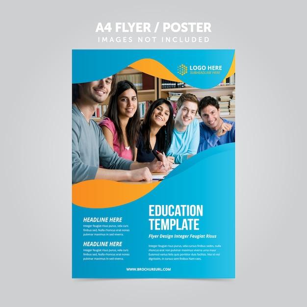 Educação negócios mulripurpose a4 flyer folheto template Vetor Premium