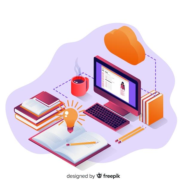 Educação online Vetor grátis