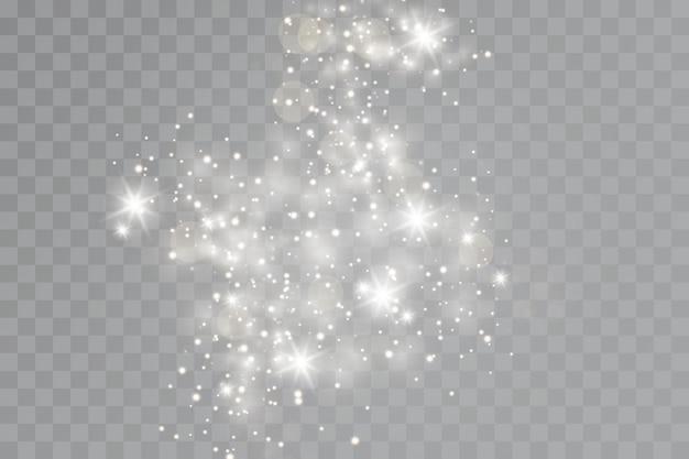Efeito de brilho. um flash de poeira de natal, bokeh cintilante. Vetor Premium