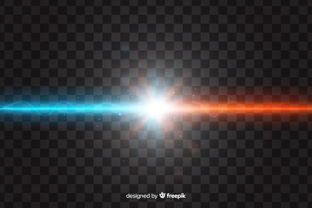 Efeito de colisão de duas luzes realistas Vetor grátis