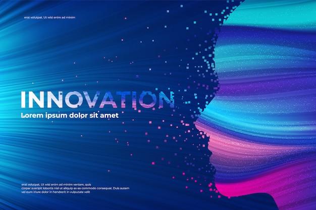 Efeito de desintegração do tema inovação Vetor Premium