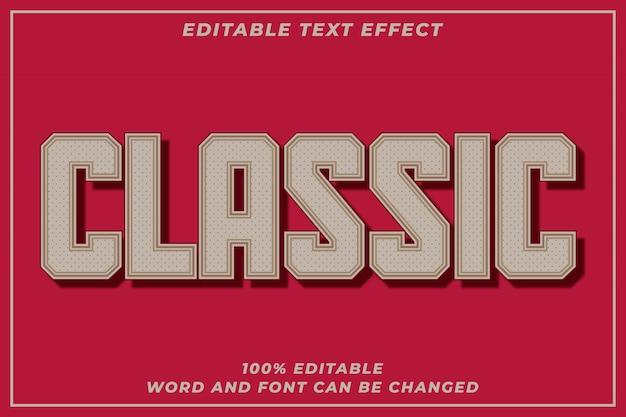 Efeito de estilo de texto clássico Vetor Premium
