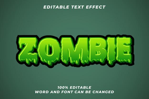 Efeito de estilo de texto de zumbi halloween Vetor Premium