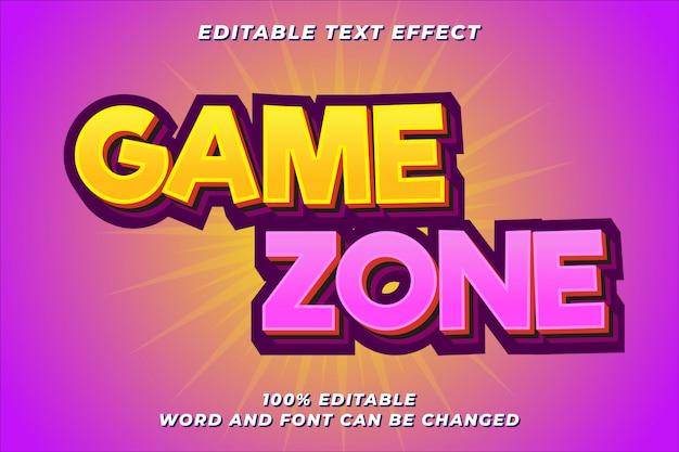 Efeito de estilo de texto divertido jogo Vetor Premium