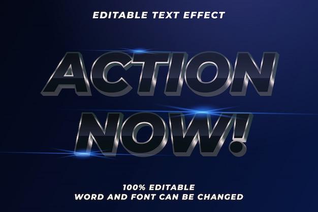 Efeito de estilo de texto do filme de ação Vetor Premium