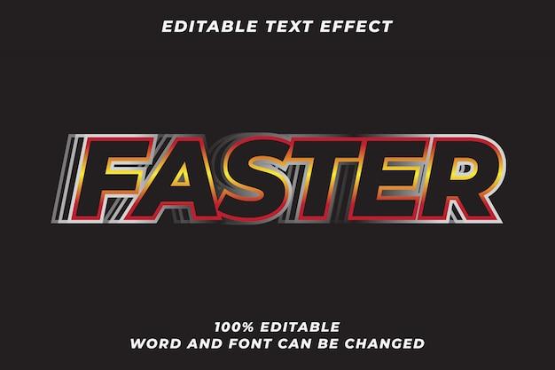 Efeito de estilo de texto mais rápido Vetor Premium