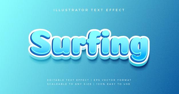 Efeito de fonte de estilo de texto azul brincalhão dos desenhos animados Vetor Premium