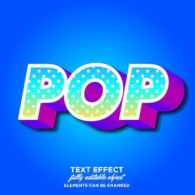 Efeito de fonte moderna pop art Vetor Premium