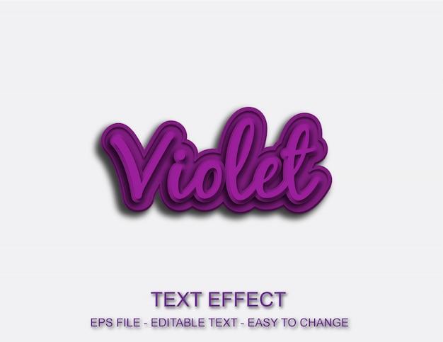 Efeito de fonte violeta editável Vetor Premium