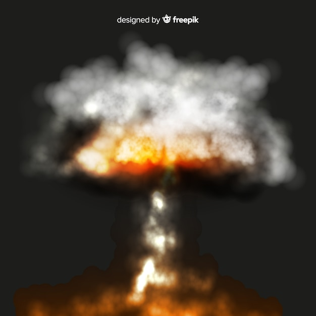 Efeito de fumaça de bomba de borrão realista Vetor grátis
